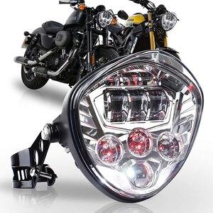Image 1 - 유니버설 오토바이 헤드 라이트 (브래킷 클램프 포함) 포크 튜브 용 97.4 ~ 135mm Harley Honda Yamaha Suzuki