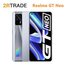 Realme gt neo 5g dimensity 1200 smartphone 6.43 Polegada 120hz super amoled 64mp 4500mah 50w flash carregador