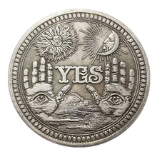 Morgan Dollar Coin Prediction Angel-Nickel-Usa Yes/no-Gothic All-Seeing Death Eye