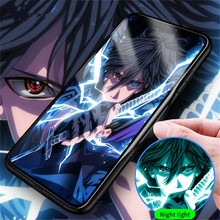 New cool Japanese anime cartoon Naruto tempered glass phone case for iPhone 6 7 8 6s Plus 10X XS MAX XR 11 Pro Max FUNDA