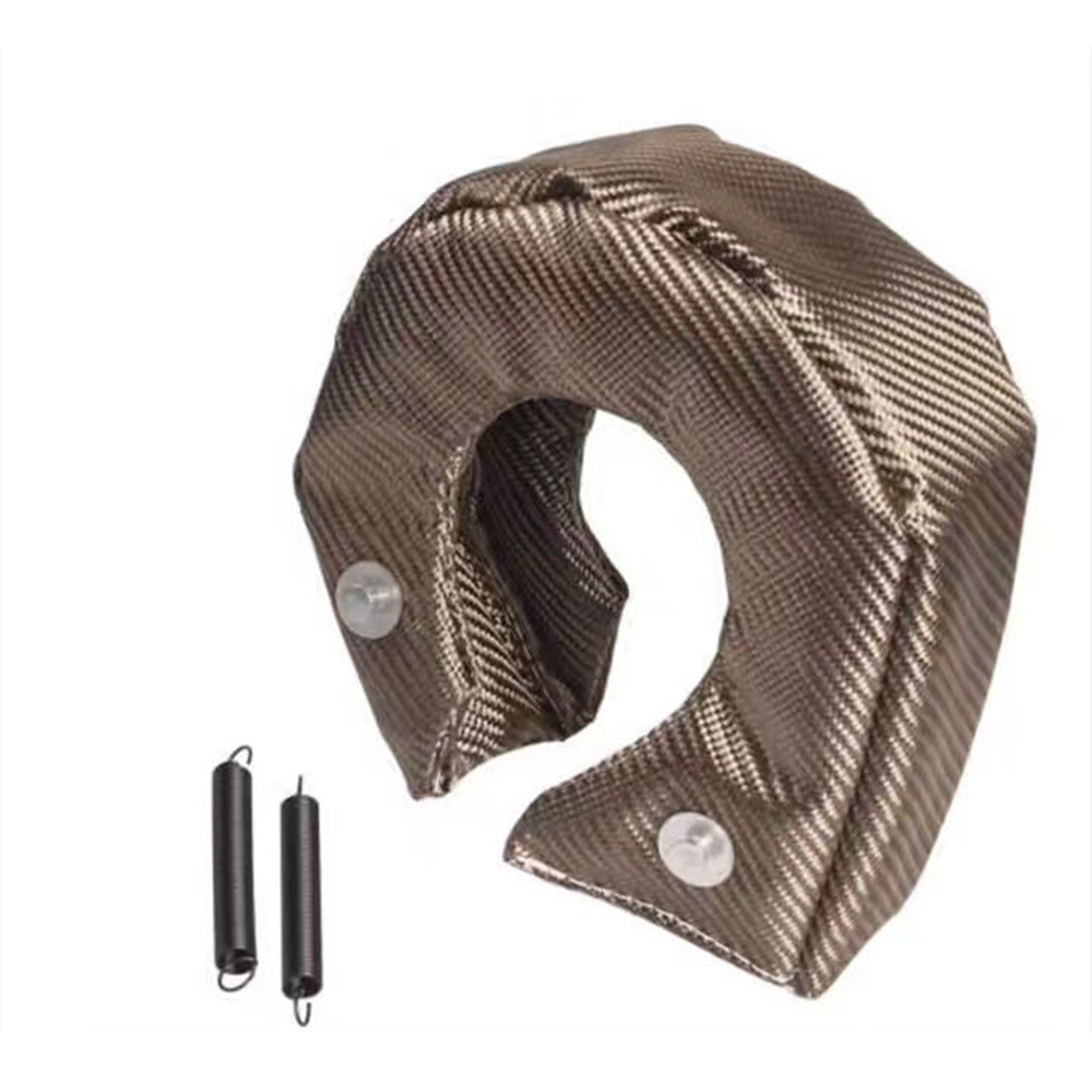 T25 <font><b>T3</b></font> T4 T6 Titanium <font><b>Turbo</b></font> <font><b>Blanket</b></font> Heat Shield Barrier Charger Cover Wrap image