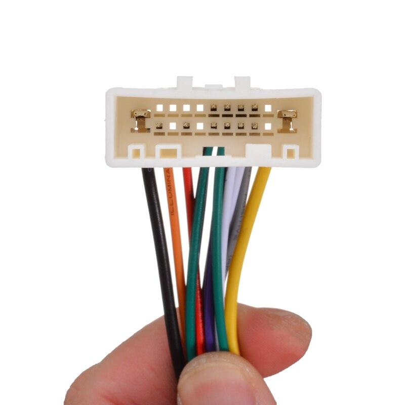 פלאזמה עבור ניסאן 09-13 1pc רדיו DVD לרכב התקן Mayitr מתאם אנטנה תקע כבל לרתום תיל סטריאו (4)