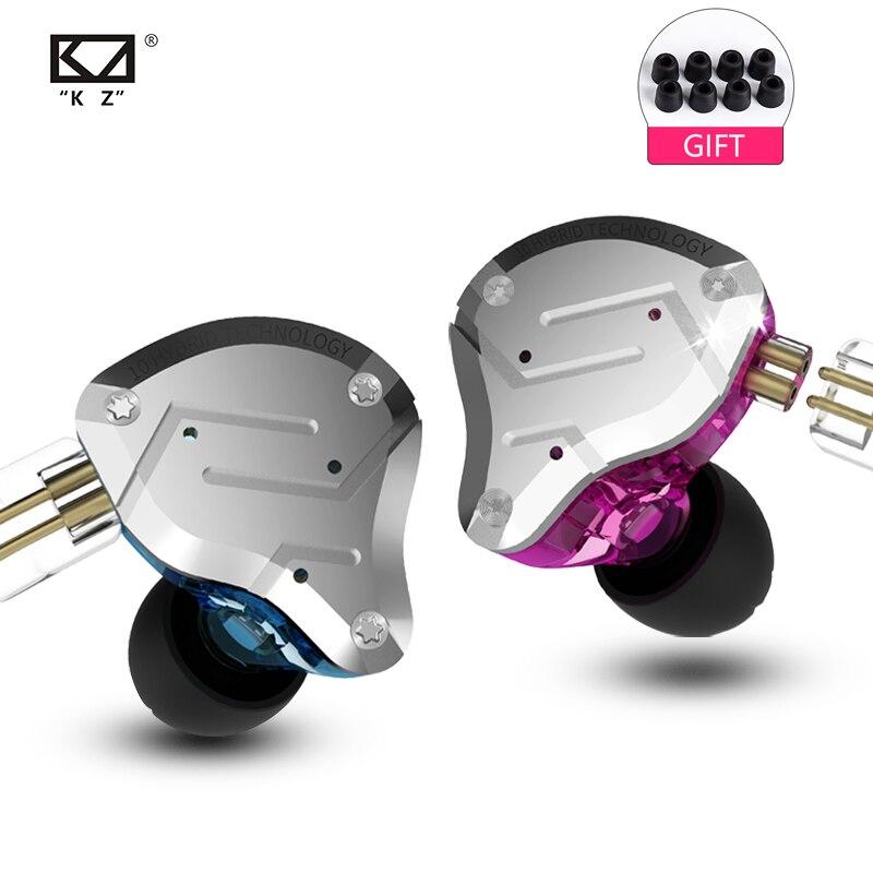 2019 KZ ZS10 PRO 4BA + 1DD KZ hybride écouteurs casque HIFI écouteurs dans l'oreille casques écouteurs pour KZ AS10 ZS10 ZSN PRO-in Écouteurs et casques from Electronique    1