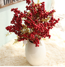 1/5/10Pcs Christmas Berry Artificial flowers Fake Flowers 3Style Relax your Eyes Non-toxic Decor For Home gifts D40