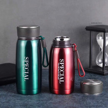 304 Thermos Cup High-grade Mug Food Grade Stainless Steel Outdoor Leisure Belt Rope Silicone Cover Water Bottle Vacuum Flask