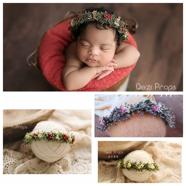 Baby Props Headbands Flower Headband Infant Party Studio Handmade Newborn Photography Props Christmas Headband Wedding Headbands