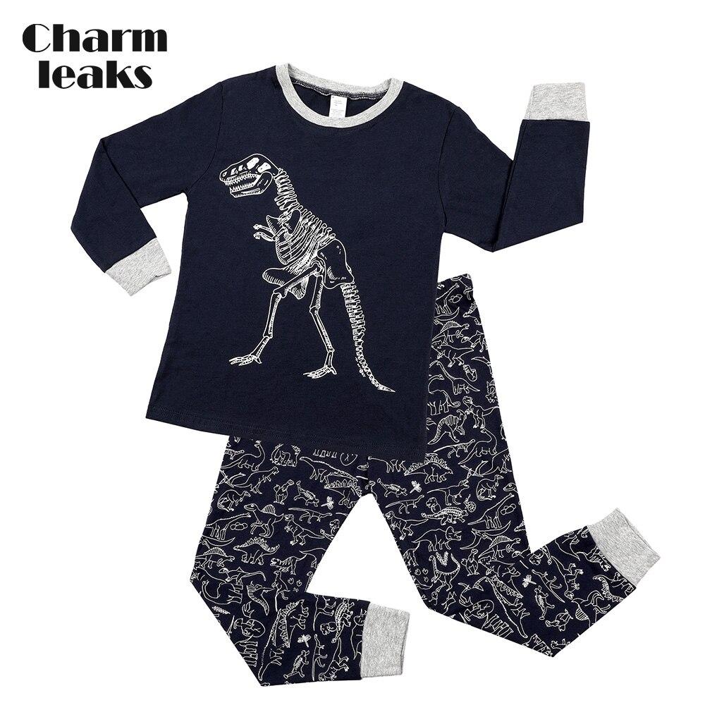 Charmleaks/Детский Рождественский пижамный комплект; Новинка; Рождественская одежда для сна; детская одежда для сна; комплект домашней одежды; зимняя одежда - Цвет: 8092