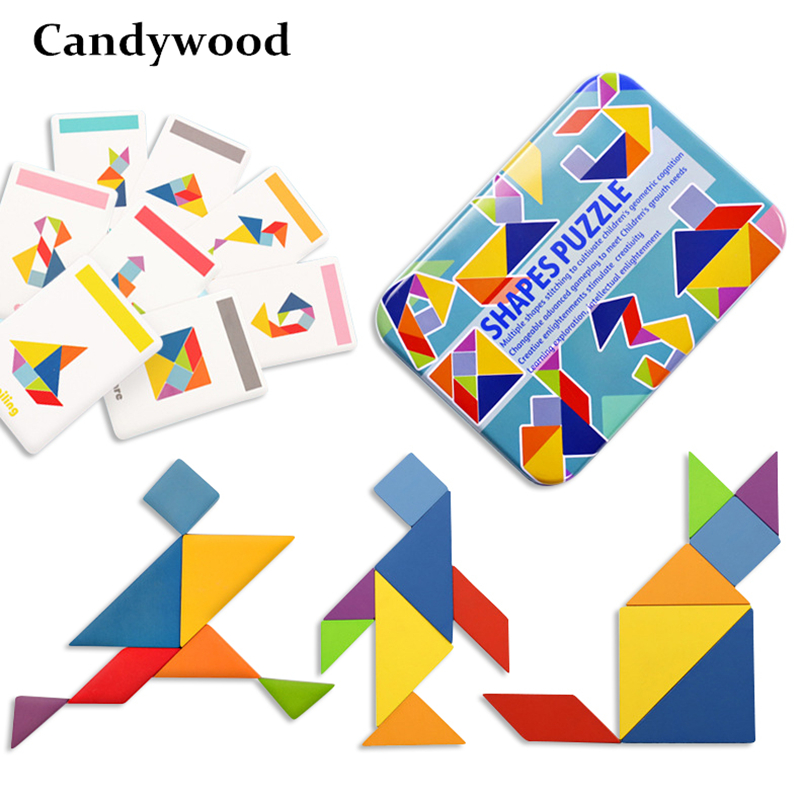 Candywood Creative Puzzle 4 Styles Kids Wooden Toys For Children Jigsaw Puzzle Kids Early Learning Educational Toys