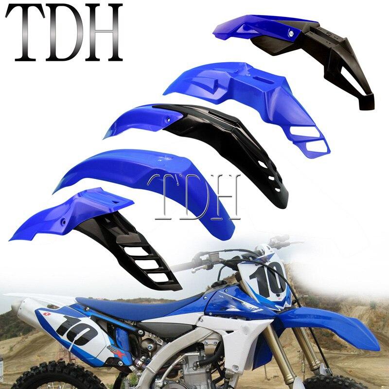 Синий Универсальный передний брызговик Enduro MX для внедорожника Evo, брызговики для Yamaha TT-R230 WR250 WR450 YZ85 YZ125 WR WR-F YZ FX TTR 50