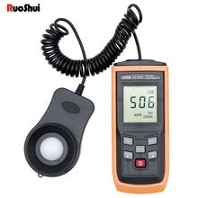 RuoShui 1010D Digital light meter Handheld Mini LCD Luminometer 0-200000 LUX Fc Photometer Luxmeter Illuminance LUX Meter tester