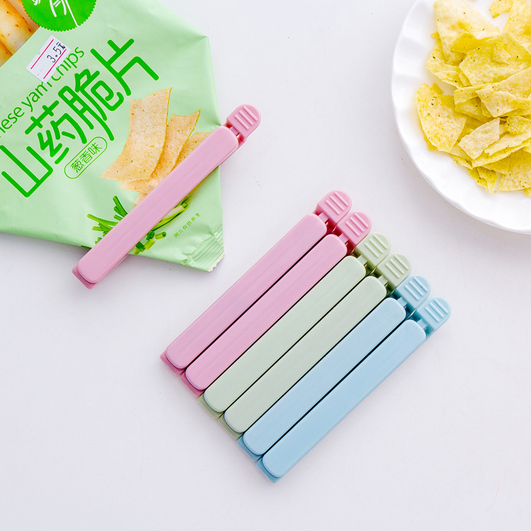 5 Pack Sealing Clips Stocked Snack Food Clip Sealed Bag Sealing Clip Eco-Friendly Plastic Bag Holder
