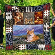 Quilt Blanket King-Size Full/queen Printed Twin Janeyu Custom Cute