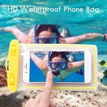 Funda impermeable Universal para teléfono, bolsas de natación para iPhone, Samsung, Xiaomi, bolsa seca, a prueba de agua, bolsa subacuática para selfis