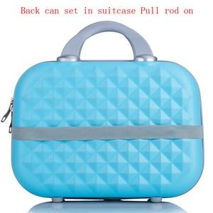 Image 3 - Professionale di bellezza ABS caso Cosmetico Per Le Donne sacchetto Cosmetico Dellorganizzatore di viaggio valigia caso di trucco Delle Donne scatola di trucco borse 14 pollici