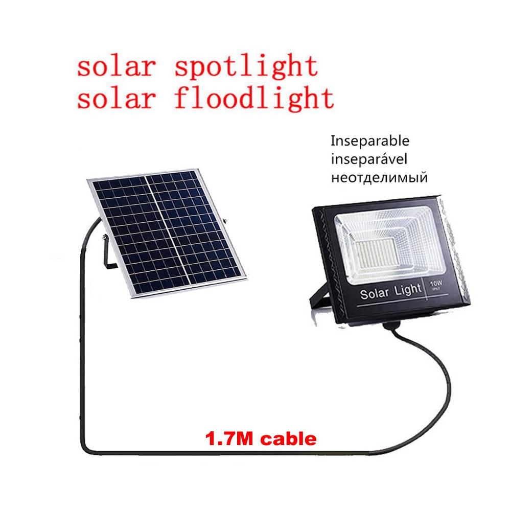 Led Solar Flood Light Solar Street Wall Lamp Waterproof Outdoor Garden Rotable Spot Lights Floodlight Panel Integarted Or Split