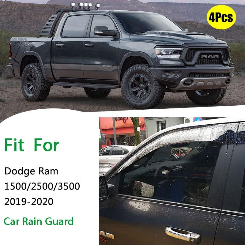 FOR Dodge RAM 1500 2500 3500 Rain Guard Dodge Ram Window Sun Shade Visor Wind Strip Smoke Window Rain VisorHigh Quality