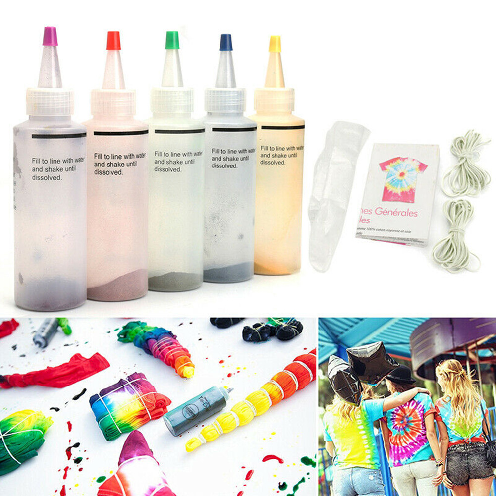 18 Bottles / 5 Bottles Permanent One-step Tie-dye Set DIY Set Fabric Textile Crafts Ground Engineering Dye Painting Party Art