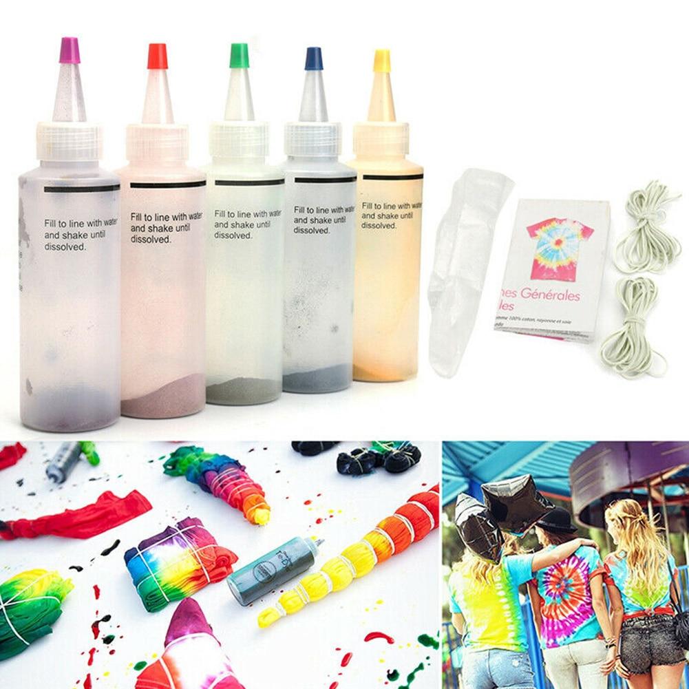 18 Bottles / 5 Bottles Permanent One-step Tie-dye Set DIY Set Fabric Textile Crafts Ground Engineering Dye Painting Party Art