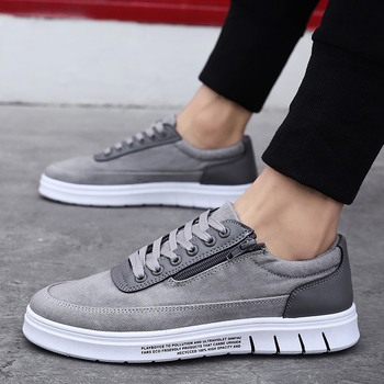 Nice New Men Shoes Summer Korean Canvas Shoes Low Heel Casual Shoes Sneakers