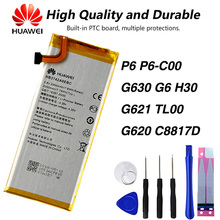 Original Huawei HB3742AOEBC Phone Battery For Huawei P6 P6-C00 P6-U06 P6-T00 P6-C00 G630 G6 G621 TL00 G620 C8817D H30 free shipping for original cubot p6 phone rear back camera for cubot p6 phone repair parts replacement in stock tracking number