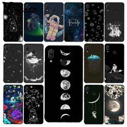 Чехол Yinuoda для телефона с небесным космосом, планетой, черным, белым солнцем, луной, звездами для Xiaomi Redmi Note 7, 8T, Redmi 5plus, 6A, Note8, 4X, Note8Pro