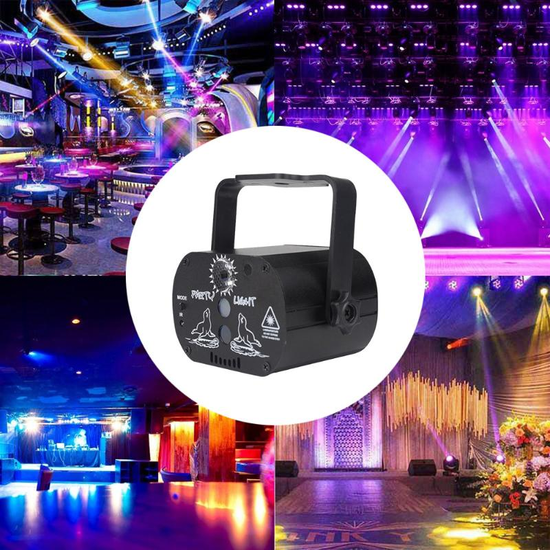 60 Patterns RGB LED Disco Light 5V USB Recharge RGB Laser Projection Lamp Stage Lighting Show For KTV DJ Dance Floor Home Party
