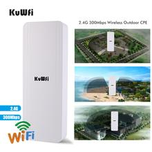 цены на KuWfi Wireless Router 300Mbps 2.4G Outdoor&Indoor CPE Router 1-3KM Long Distance Wireless Repeater Wifi Bridge Extender Wifi  в интернет-магазинах