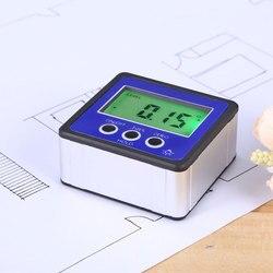 Precyzyjny cyfrowy kątomierz inklinometr poziom Box wodoodporny celownik kątowy środek skos Box goniometr magnes Gauge linijka w Kątomierze od Narzędzia na