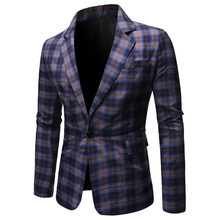 2019 Mens Wedding Suit Male Blazers Slim Fit Suits for Men Costume Business Formal Party Blazer Men's(China)