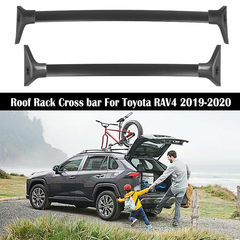 aluminum alloy roof rack for toyota rav4 rav 4 2019 2020 rails bar luggage carrier bars top cross bar rack rail boxes