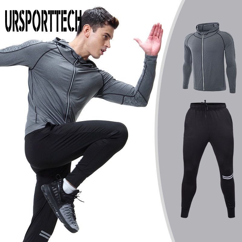 2pcs 3pcs/set Men Sport Tracksuit Running Clothes Fitness Suit Active Suit Tracksuits Mans Sports Costumes Exercise Sets Mens