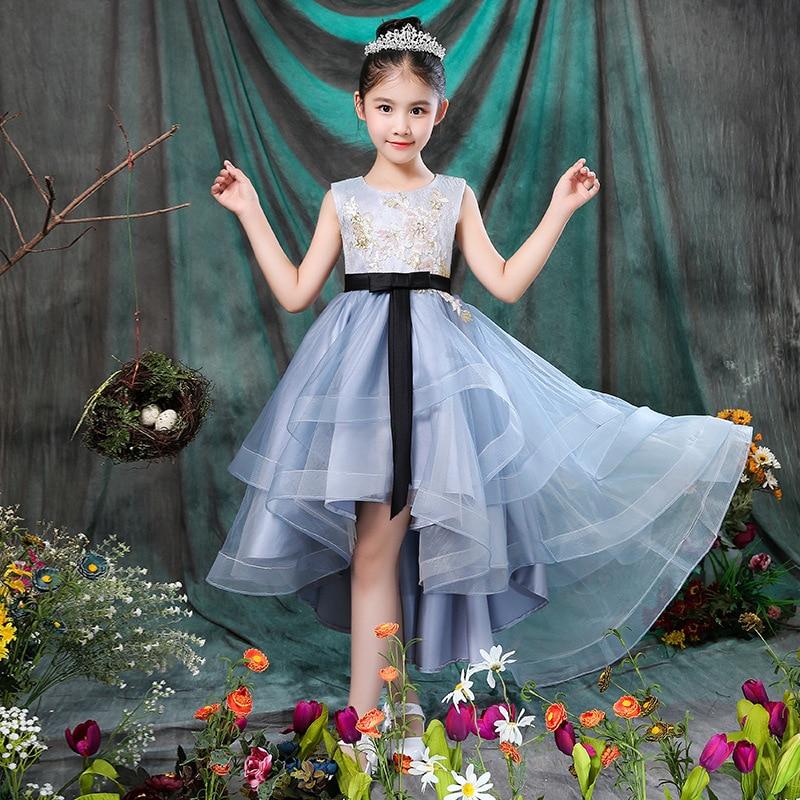 Flower Boys/Flower Girls Short Costume Girls Princess Dress 2019 Puffy Yarn CHILDREN'S Full Dress Birthday Evening Gown Autumn A