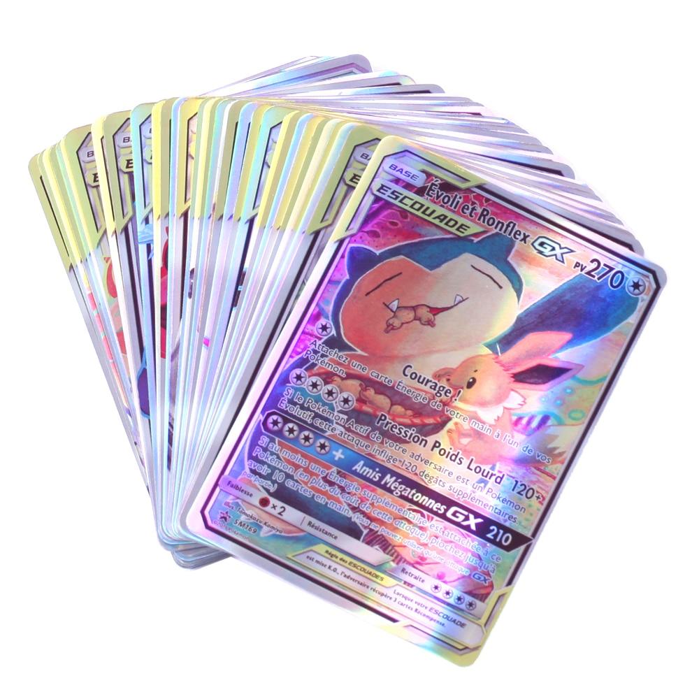 Французская версия V Vmax карты Pokemon Card с GX меткой команда Ex Mega блестящие карты