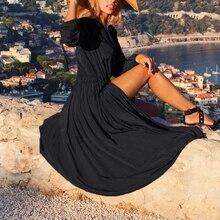 Vestido longo sexy de praia feminino, preto, túnica de praia, robe, cobertura de praia, maiô, saída pareos