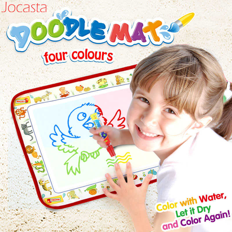 Cute Animals Water Maigc Doodle Mat With Pen 38 5x29cm Reusable Drawing Carpet For Baby Coloring Painting Board Children Gifts Drawing Toys Aliexpress