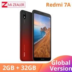 """Оригинальная глобальная версия Redmi 7A 2 ГБ 32 ГБ мобильный телефон Snapdargon 439 Восьмиядерный 5,45 """"4000 мАч аккумулятор долгое время ожидания"""