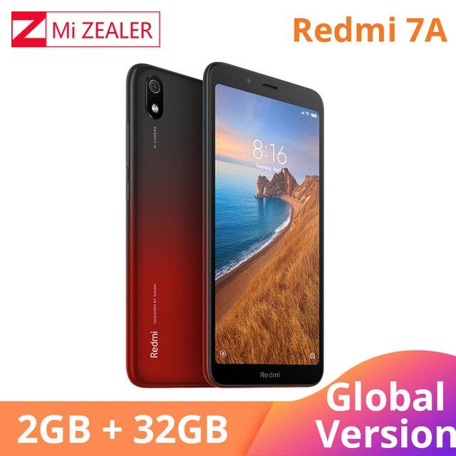 """グローバル版オリジナル Redmi 7A 2 ギガバイト 32 ギガバイトの携帯電話 Snapdargon 439 オクタコア 5.45 """"4000 3000mah のバッテリー長時間スタンバイ"""