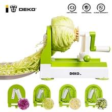 DEKO Spiralizer Carrot Cutter Fruit Vegetable Slicer Salad Noodle Pasta Maker Kitchen Accessories