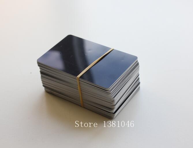 Size 85*54mm Small Glossy Black PVC Plastic ID Cards 0.75mm Thickness 10/50/100pcs You Choose Quantity