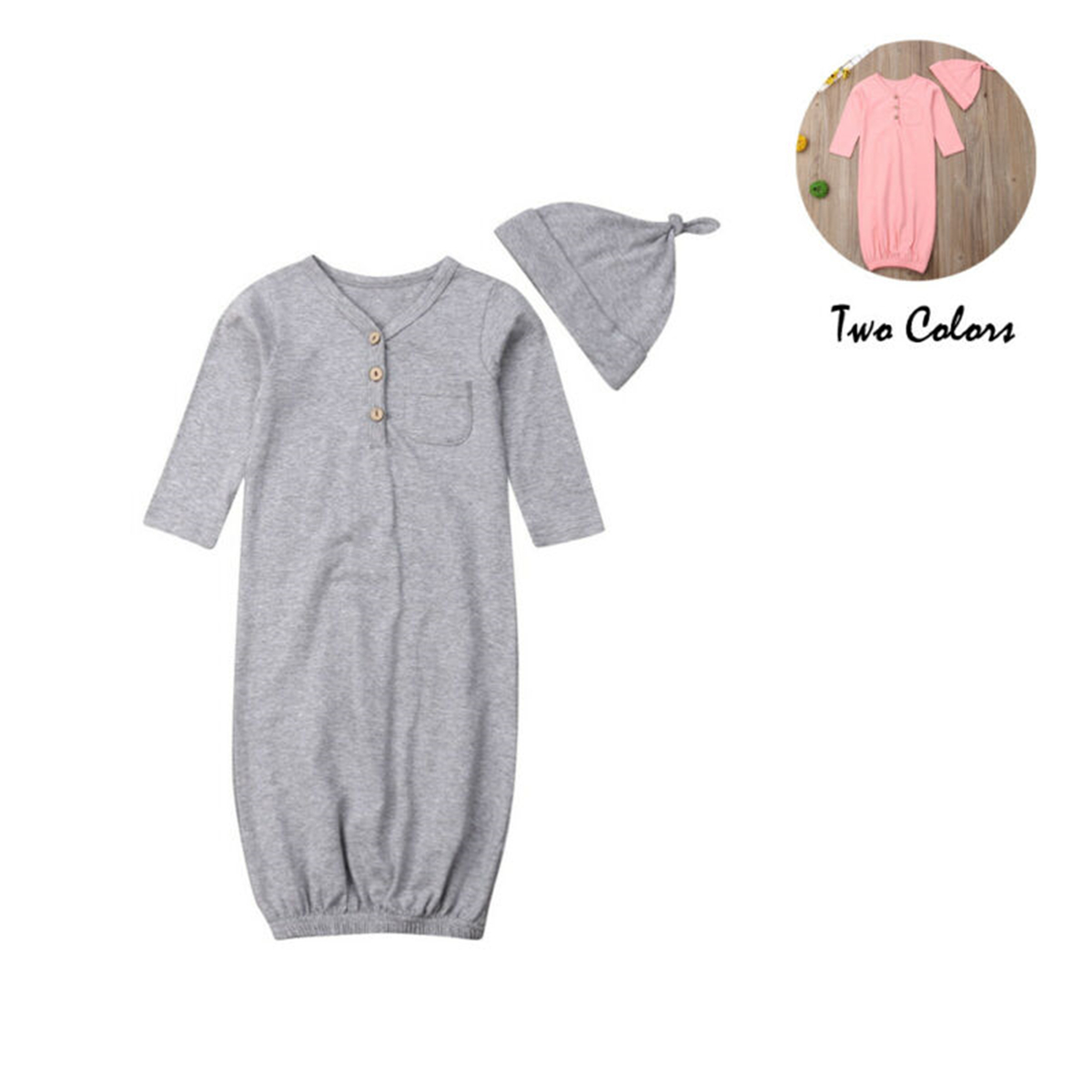 Soft Cotton Newborn Infant Baby Sleeping Bag Blanket Swaddle Wrap Toddler Infant Bedding Clothes Hat 2Pcs Outfit in Clothing Sets from Mother Kids