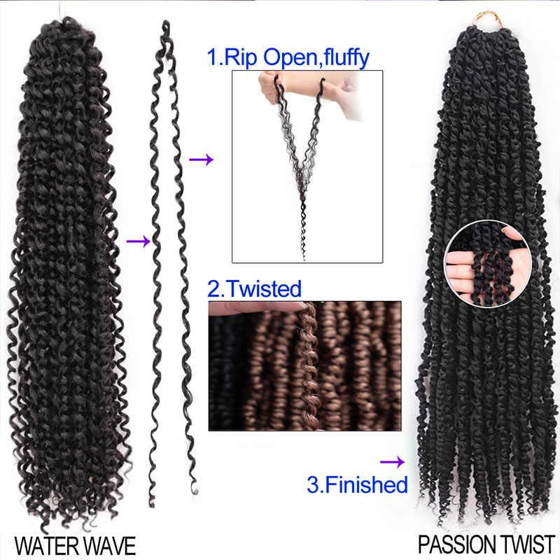 Leidenschaft Twist Haar Synthetische Verworrene Lockige 18 Zoll Frühling Twist Häkeln Braid Haar 22 stränge/pack Haar Verlängerung für schwarz Frauen