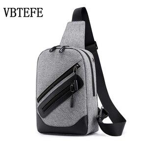 Мужская сумка для бега VBTEFE, водонепроницаемая Повседневная сумка через плечо, вместительная, многофункциональная, 2020