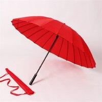 Momenteel Beschikbaar 24 Bone Lange Handvat Paraplu Reclame Paraplu Cadeau 24K Rechte Handvat shang wu san Creatieve Paraplu -
