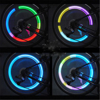 Bicycle Light Bike Wheel Spoke Light LED Tire Valve Stem Caps Lights Waterproof Neon Light Car Cycling Bike Bicycle Accessories image