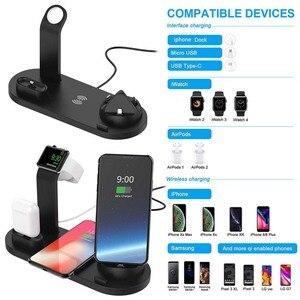 Image 5 - ワイヤレス充電器電話ホルダースタンド Apple 腕時計シリーズ 5 4 3 2 Iphone 11 プロマックス XS 最大 XR 8 × IWatch Airpods