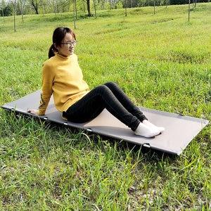 Image 1 - aluminum folding camp bed portable folding camping bed ultralight folding bed