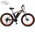 Wolf's fang двойной дисковый тормоз Электрический велосипед городской электрический велосипед литиевая батарея велосипед 48V500W 10AH ebike дамы Беспл...