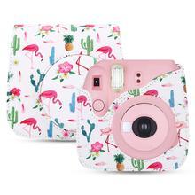 Защитный чехол для камеры с плечевым ремнем для Fuji Fujifilm Instax Mini 8/8+/9(белый