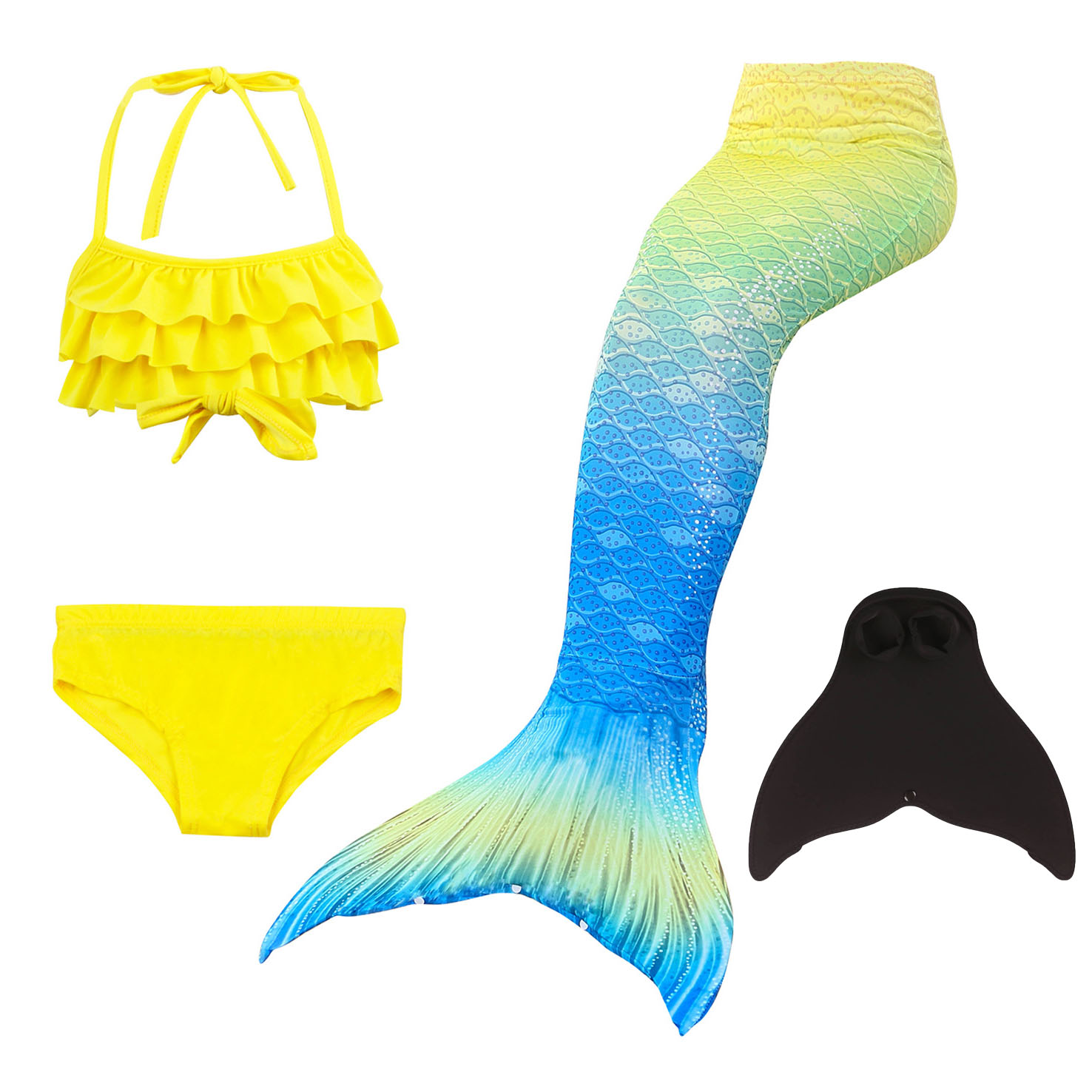 Kids Fin Swimsuit Bathing Clothes Suit Tail Mermaid Carnival Costumes Swimsuit For Girls Swimming Costume