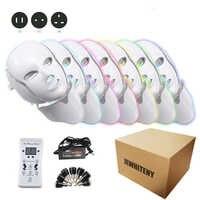 2 типа 7 цветов светильник светодиодный EMS маска для лица светильник терапия омоложение кожи уход за лицом Лечение Красота анти акне терапия ...